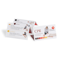 Wallet card explaining how to perform CPR - Heart Foundation