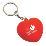 Heart Foundation anti-stress heart keyring