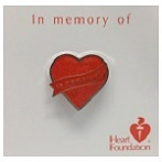 On sale now! Normally $6.00 Buy now for $3.99! Your purchase supports the Heart Foundations lifesaving work.