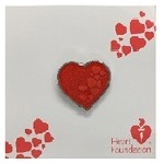 Lapel pin - red hearts | Heart Foundation