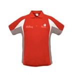 Heart Foundation Womens Verve polo shirt Red/white/grey