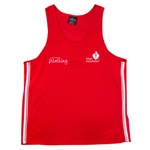Podium dual stripe mens/unisex singlet - Heart Foundation