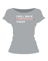 Contemporary ladies fitted style t-shirt in cotton with spandex for easy wear.