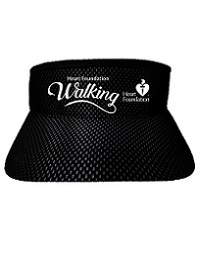 Sun visor in black mesh with silver reflective underlay and white 3D embroidery.  Elasticised back band for ease of fit.
