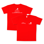 Heart Foundation red microfibre t-shirt