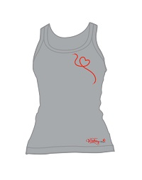 Ladies classic fit cotton spandex singlet. Lower round neck and straight hem.