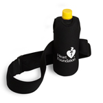Waist strap water bottle holder. Fits up to 110cm waist and holds up to 500ml bottle.