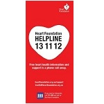 Helpline information card | Heart Foundation | Call 13 11 12