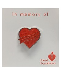 <b>Lapel pin</b> - In memory of | <b>Heart Foundation</b>