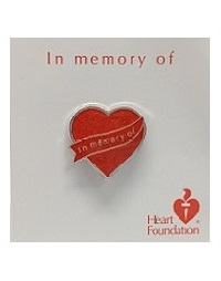Lapel pin - In memory of | Heart Foundation