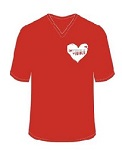 Make the invisible visible mens t-shirt | Heart Foundation