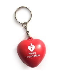 New stock due 25th September. Heart Foundation anti-stress heart keyring.