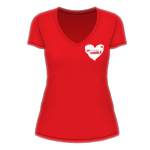 Make the invisible visible Ladies t-shirt | Heart Foundation